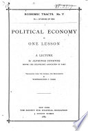 Political Economy in One Lesson  A Lecture Book