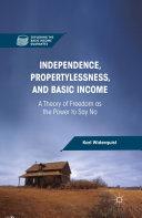 Independence, Propertylessness, and Basic Income Pdf/ePub eBook