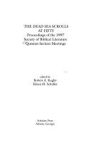 Pdf The Dead Sea Scrolls at Fifty