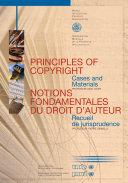 Notions Fondamentales Du Droit D'auteur