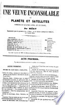 """""""Une"""" veuve inconsolable ou planète et satellites"""