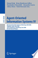 Agent Oriented Information Systems IV Book