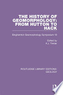The History of Geomorphology