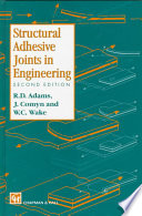 Structural Adhesive Joints in Engineering Book
