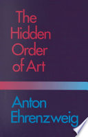 The Hidden Order of Art Book