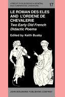 Pdf 'Le Roman des Eles', and the Anonymous: 'Ordene de Chevalerie' Telecharger