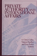 Private Authority and International Affairs ebook