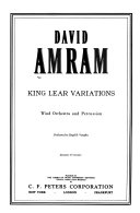 King Lear variations: for wind orchestra and percussion