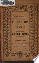 Report of Public Meeting Held in the Town Hall  Melbourne  on Friday Evening  5th June  1885     Book