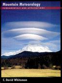Mountain Meteorology Pdf/ePub eBook