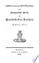 Werke, Works 1834