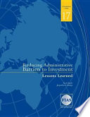 Reducing Administrative Barriers To Investment