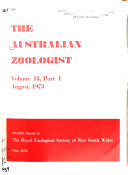 The Australian Zoologist Book PDF