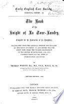 The Book of the Knight of La Tour Landry