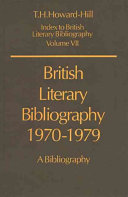 British Literary Bibliography 1970 1979