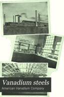 Vanadium Steels Book