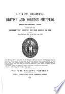 Lloyd s Register of Shipping Book PDF