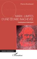 Pdf Marx : Limites d'une oeuvre inachevée Telecharger