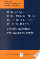 Judicial Independence In The Age Of Democracy