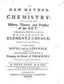 A new method of chemistry     translated     By Peter Shaw     The third edition corrected