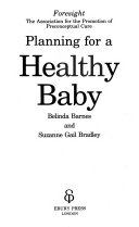 Planning for a Healthy Baby