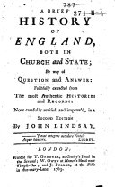 A Brief History of England, Both in Church and State