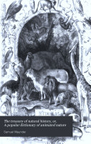 The Treasury of Natural History  Or  A Popular Dictionary of Animated Nature