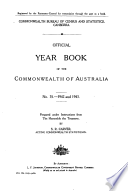 Official Year Book Of The Commonwealth Of Australia No 35 1942 And 1943