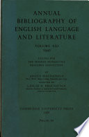 Annual Bibliograpphy of English Language and Literature