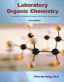 Laboratory Organic Chemistry Book