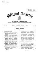 Pdf Official Gazette