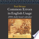 Common Errors in English Usage Daily Boxed Calendar Book
