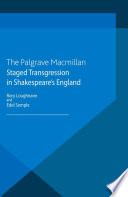 Staged Transgression In Shakespeare S England