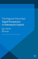 Pdf Staged Transgression in Shakespeare's England Telecharger