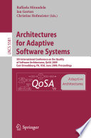Architectures For Adaptive Software Systems Book PDF