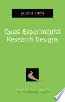 Quasi Experimental Research Designs Book PDF