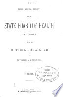 Annual report of the State Board of Health of Illinois  1880 81