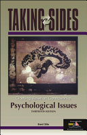 Taking Sides Psychological Issues Book