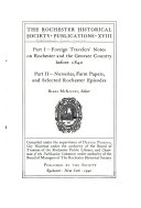Publications of the Rochester Historical Society