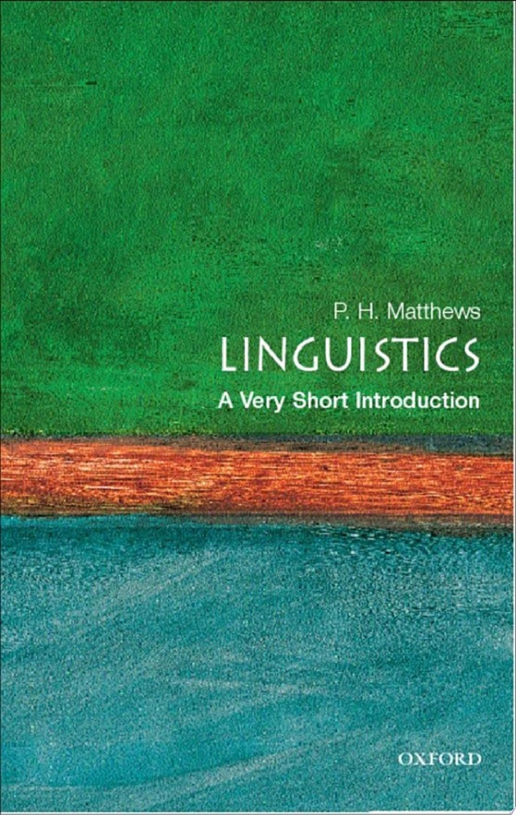 Linguistics  A Very Short Introduction