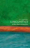 Linguistics: A Very Short Introduction Pdf/ePub eBook