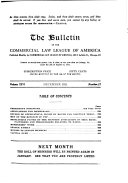 The Bulletin Of The Commercial Law League Of America