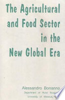 The Agricultural And Food Sector In The New Global Era