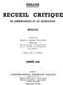 Recueil analytique de jurisprudence et de législation