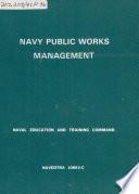 Navy Public Works Management