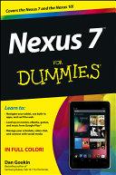 Nexus 7 For Dummies  Google Tablet