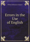 Pdf Errors in the Use of English