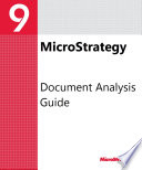 Document Analysis Guide For For Microstrategy 9 3 1
