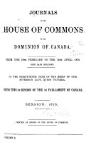 Pdf Journals of the House of Commons of Canada