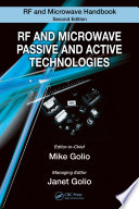 RF and Microwave Passive and Active Technologies Book